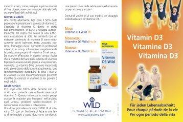 Vitamin D3 Vitamine D3 Vitamina D3 - Dr. Wild & Co. AG