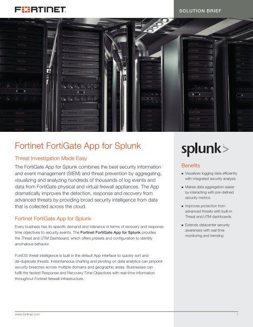 Fortinet FortiGate App for Splunk