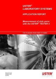 Ut4 application Report - Uster Technologies