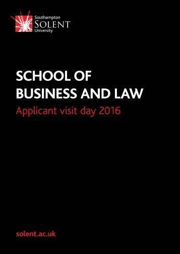 SCHOOL OF BUSINESS AND LAW