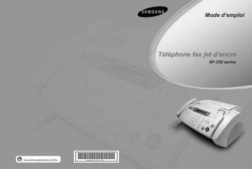 Samsung SF-335T (SF-335T/XEF ) - Manuel de l'utilisateur 2.93 MB, pdf, Français