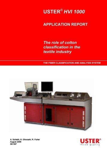 USTER HVI 1000 APPLICATION REPORT The ... - Uster Technologies