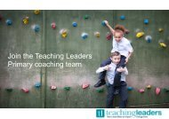 Join the Teaching Leaders Primary coaching team