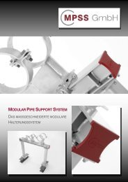 MPSS GmbH *Modular Pipe Support System*