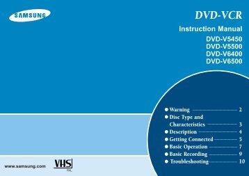Samsung DVD-V6500 (DVD-V6500/AFR ) - Guide rapide 1.26 MB, pdf, Anglais