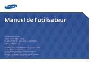 Samsung Moniteur 40'' - 350 cd/m² - DB40E (LH40DBEPLGC/EN ) - Manuel de l'utilisateur 5.13 MB, pdf, Français