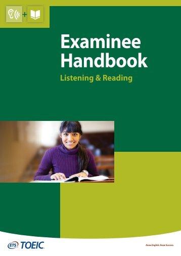 TOEIC+LR+Examinee+Handbook