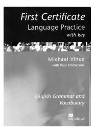 Vince Michael - First Certificate Language Practice With Key