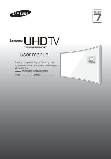 Samsung TV LED 55'', Incurvé, UHD/4K, Smart TV, 3D, 1400PQI - UE55JU7500 (UE55JU7500TXZF ) - Guide rapide 14.7 MB, pdf, Anglais, NÉERLANDAIS, Français, ALLEMAND