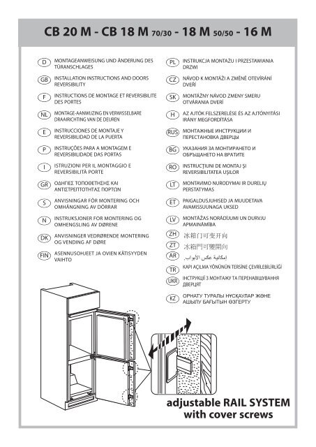 Whirlpool Frigorifero combinato da incasso ART 880/A+/NF manuale d ...