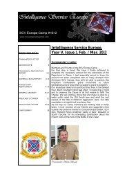 Intelligence Service Europe, Year V, Issue 1, Feb. / Mar. 2012