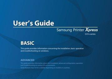 Samsung SL-C410W Imprimante laser couleur (4/ 18 ppm) (SL-C410W/SEE ) - Manuel de l'utilisateur 36.46 MB, pdf, Anglais