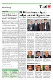 EU: Diskussion um Agrar- budget noch nicht gewonnen