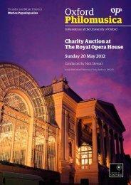 Auction Catalogue - Oxford Philomusica