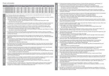 Samsung LE22C451 (LE22C451E2WXZF ) - Guide relatif à la consommation électrique 0.95 MB, pdf, Anglais
