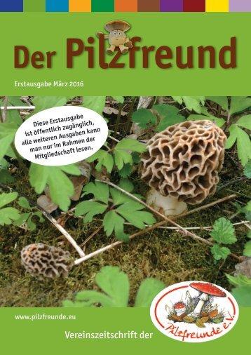 Der Pilzfreund - Erstausgabe