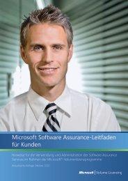Microsoft Software Assurance-Leitfaden für Kunden