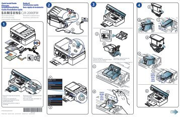 Samsung Imprimante jet d'encre, 4-en-1, 7ppm - CJX-2000FW (CJX-2000FW/SEE ) - Installation Guide 4 MB, pdf, Anglais