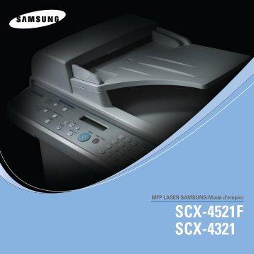 Samsung 20ppm Multifonction laser mono SCX-4521F (SCX-4521F/XEF ) - Manuel de l'utilisateur 5 MB, pdf, Français