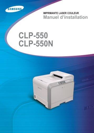 Samsung CLP-550N (CLP-550N/SEE ) - Manuel de l'utilisateur 12.1 MB, pdf, Français