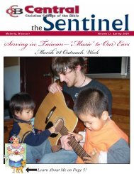 """Serving in Taiwan—""""Music"""" to Our Ears - Central Christian College ..."""