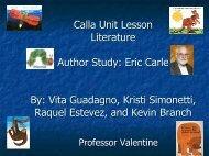 Unit Lesson Plan Language Arts Author Study: Eric Carle