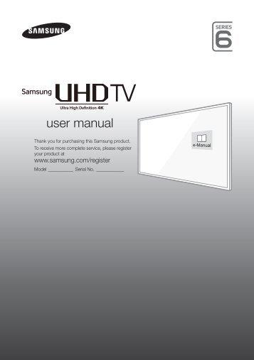Samsung TV LED 40'', UHD/4K, Smart TV, 1000PQI, Design Metal - UE40JU6410 (UE40JU6410UXZF ) - Guide rapide 11.97 MB, pdf, Anglais, NÉERLANDAIS, Français, ALLEMAND