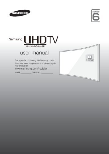Samsung TV LED 48'', Incurvé, UHD/4K, Smart TV, 1200PQI - UE48JU6670 (UE48JU6670UXZF ) - Guide rapide 14.31 MB, pdf, Anglais, NÉERLANDAIS, Français, ALLEMAND