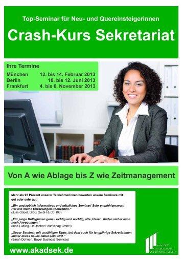 Crash-Kurs Sekretariat - Akademie für Sekretariat und ...