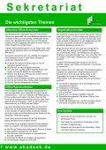 Crash-Kurs Sekretariat - Akademie für Sekretariat und ... - Seite 3