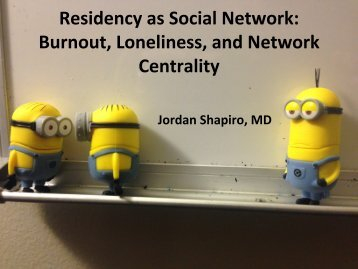 Residency as Social Network Burnout Loneliness and Network Centrality