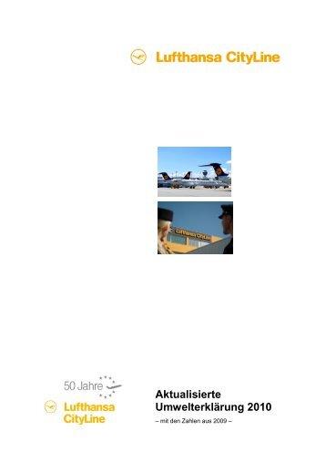 Aktualisierte Umwelterklärung 2010 - Lufthansa CityLine GmbH
