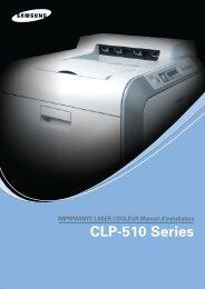 Samsung CLP-510N (CLP-510N/SEE ) - Manuel de l'utilisateur 9.98 MB, pdf, Français