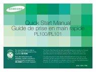 Samsung PL100 (EC-PL100ZBPBGB ) - Guide rapide 3.74 MB, pdf, Anglais, Français, Espagnol