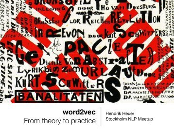 word2vec  From theory to practice