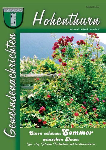 Aus unserer Gemeinde - Gemeinde Hohenthurn