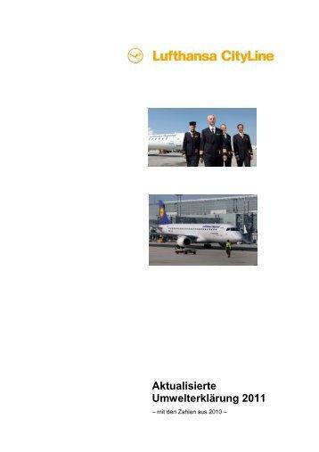 Aktualisierte Umwelterklärung 2011 - Lufthansa CityLine GmbH