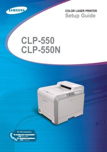 Samsung CLP-550 (CLP-550/SEE ) - Manuel de l'utilisateur 11.53 MB, pdf, Anglais