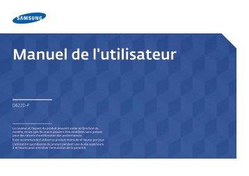 Samsung Moniteur 22'' – 250 cd/m² - Full HD – DB22D-P (LH22DBDPSGC/EN ) - Manuel de l'utilisateur 3.35 MB, pdf, Français