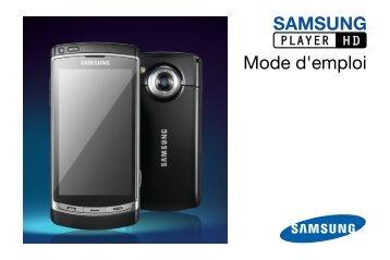 Samsung Samsung Player HD noir - Open market (GT-I8910DKAXEF ) - Manuel de l'utilisateur 3.12 MB, pdf, Français