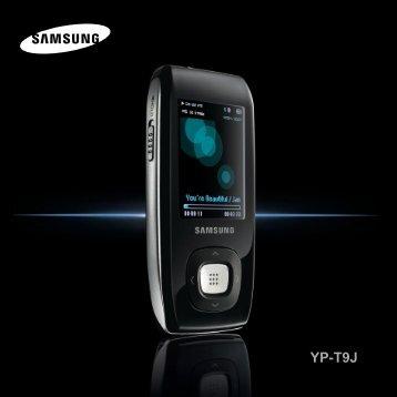 Samsung YP-T9JZB (YP-T9JZB/XEF ) - Manuel de l'utilisateur 1.89 MB, pdf, Anglais