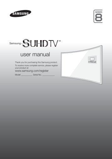 Samsung TV S-UHD 48'', Incurvé, UHD / 4K, Smart TV, 3D, 1900PQI - UE48JS8500 (UE48JS8500TXZF ) - Guide rapide 16.31 MB, pdf, Anglais, NÉERLANDAIS, Français, ALLEMAND