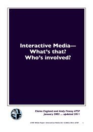 Interactive Media— What's that? Who's involved? - ATSF