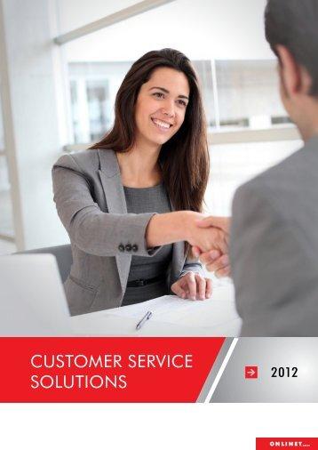 CUSTOMER SERVICE SOLUTIONS - Onlinet