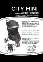 Baby jogger City Mini 3 - Manuale di istruzioni