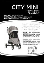 Baby jogger City Mini 4 - Manuale di istruzioni