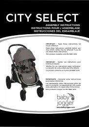 Baby jogger City Select - Manuale di istruzioni