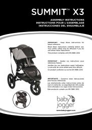 Baby jogger Summit X3 - Manuale di istruzioni