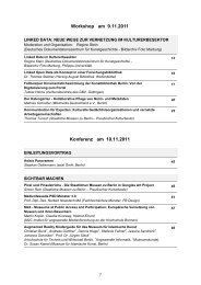 Konferenzband-Inhalt (PDF) - EVA-Berlin