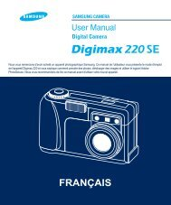 Samsung DIGIMAX 220 SE (EC-D220SABA/FR ) - Manuel de l'utilisateur 1.61 MB, pdf, Français